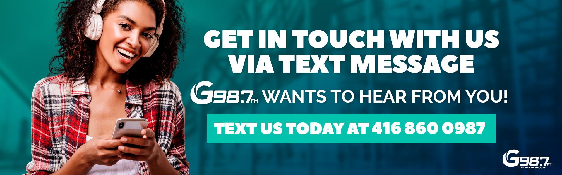 Text Message Homepage Banner