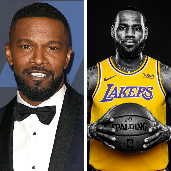 Jamie Foxx and LeBron James