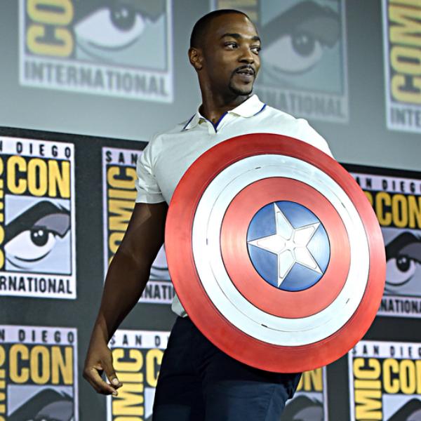 Mackie as Captain America